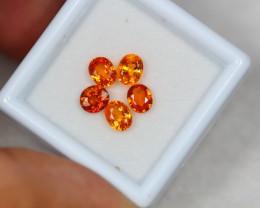 2.33ct Songea Orange Sapphire Oval Cut Lot V3270