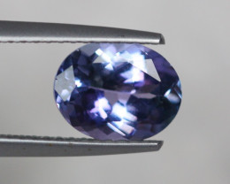 1.97Ct Greenish Violet Blue Tanzanite Oval Cut Lot A488