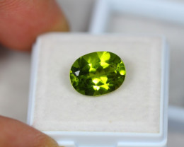 5.06Ct Green Peridot Oval Cut Lot B374