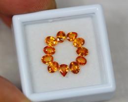 2.56Ct Songea Orange Sapphire Pear Oval Cut Lot B375