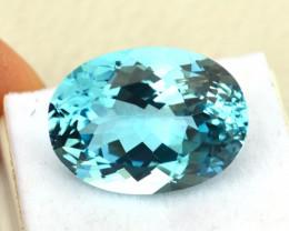 29.85 Carat Topaz -- Fine Oval Cut Sky Blue Stone!