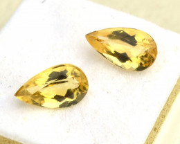 4.72 Carat Matched Pair of Fine Heliodor Beryl