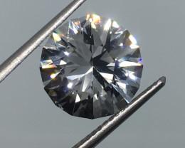 6.40 Carat VVS Topaz - Diamond White Color Master Cut Fabulous Flash !