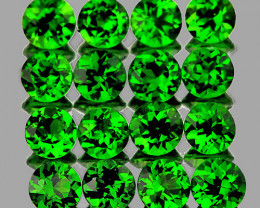1.50 mm Round 75 pieces Chrome Green Diopside [VVS]