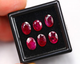 4.19Ct Natural Heated Only Burmese Red Ruby Lot  B0606