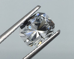 2.34 Carat VVS Topaz Nigeria - Diamond White Mastercut Incredible Flash !