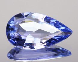 ~LOVELY~ 1.27 Cts Natural Purplish Blue Tanzanite Pear Cut Tanzania