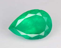 1.14 NATURAL EARTH MINED GREEN COLOR COLOMBIAN EMERALD LOOSE GEMSTONE