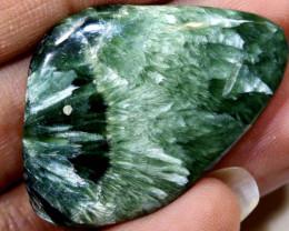 58.65-GREEN SERAPHINITE 2pcs Parcel   ADG-1665