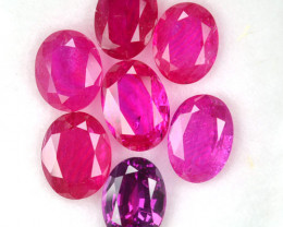 6.19 Cts Natural Purple Pink Sapphire Oval Cut Parcel Heated