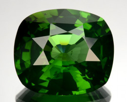 ~RAREST~ 6.94 Cts Natural Sparkling Green Zircon Cushion Cut Sri Lanka
