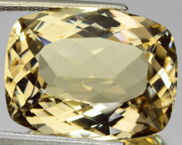 24.46 Cts GLITTERING NATURAL ULTRA RARE LUSTER YELLOW SCOPOLITE GEM