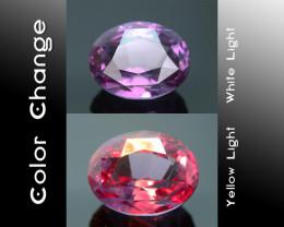 Rarest Garnet 4.74 ct Dramatic Full Color Change