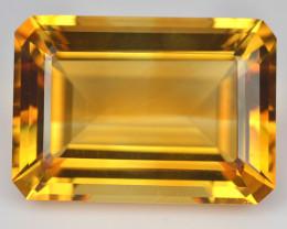 21.15 Cts Natural Golden Orange Citrine Octagon Cut Brazil
