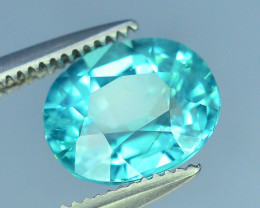 Great Luster 1.65 ct Apatite Mesmerizing Caribbean Color