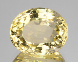 3.21 Cts GLITTERING NATURAL ULTRA RARE LUSTER YELLOW SCAPOLITE OVAL GEM