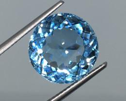 9.05 Carat VVS Topaz Swiss Blue Fabulous Flash and Precision Cut !