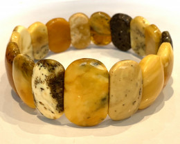 Amazing Baltic Amber Bracelet Polished Butterscotch gems