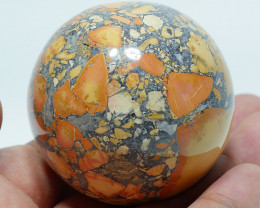 183 GRAM JASPER MALIGANO BALL NATURAL  AA GRADE GREAT PATTERN -G22-