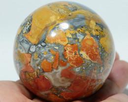 211 GRAM JASPER MALIGANO BALL NATURAL  AA GRADE GREAT PATTERN -G24-
