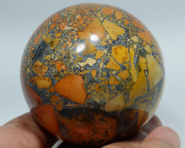 197 GRAM JASPER MALIGANO BALL NATURAL  AA GRADE GREAT PATTERN -G25-
