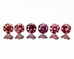 0.31 Cts Natural Purplish Pink Diamond 6 Pcs Round Africa