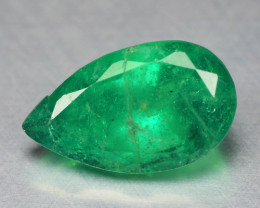 1.45 Cts NATURAL EARTH MINED GREEN COLOR COLOMBIAN EMERALD LOOSE GEMSTONE