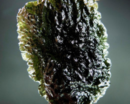 Shiny Big Authentic Moldavite with CERTIFICATE
