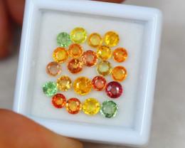 5.12ct Fancy Color Sapphire Round Cut Lot V3280