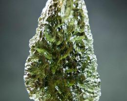 Shiny Big Moldavite  - Drop shape quality A+ with CERTIFICATE
