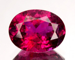 1.19 Cts Natural Rubelite Tourmaline Raspberry Pink Oval Mozambique