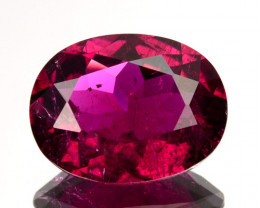 1.62 Cts Natural Rubelite Tourmaline Raspberry Pink Oval Mozambique