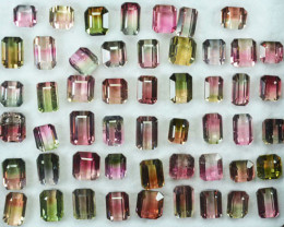 58.17 Cts Dazzling Untreated Bi-Colour Tourmaline Parcel