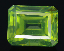 Rare 3.38 ct Green Zircon Great Luster Unheated Cambodia SKU 2