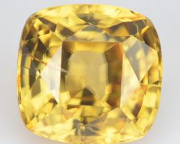 5.39 Cts Natural Sparkling Yellow Zircon Cushion Cut Sri Lanka