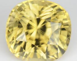 6.32 Cts Natural Sparkling Yellow Zircon Cushion Cut Sri Lanka