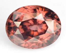 4.20 Cts Natural Brownish Pink Zircon Oval Cut Sri Lanka