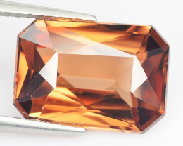 5.28 Cts Natural Imperial Brown Zircon Radiant Cut Sri Lanka