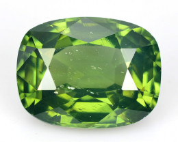 ~RAREST~ 3.94 Cts Natural Leaf Green Zircon Cushion Cut Sri Lanka