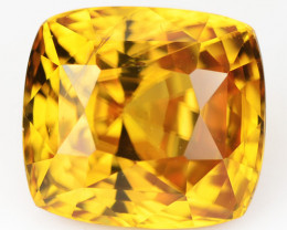 5.04 Cts Natural Honey Orange Zircon Cushion Cut Sri Lanka