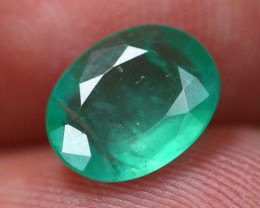 1.36Ct Natural Vivid Green Zambian Emerald  B0814