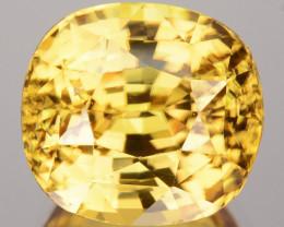 5.32 Cts Natural Sparkling Yellow Zircon Cushion Cut Sri Lanka