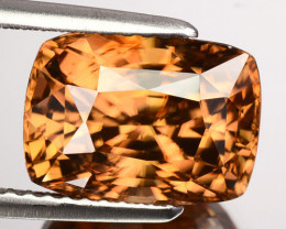 6.74 Cts Natural Imperial Brown Zircon Cushion Cut Sri Lanka