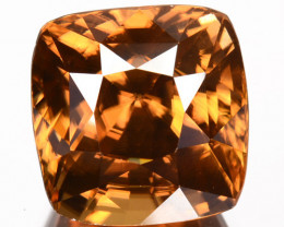 7.47 Cts Natural Imperial Brown Zircon Cushion Cut Sri Lanka