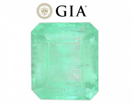 7.74 cts GIA Certified Emerald - Muzo Mine - Mint Green  $5,100