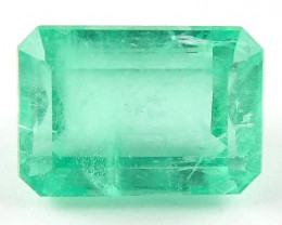 3.05 ct Natural Colombian Emerald Cut Green Gem Loose Gemstone Stone No Res