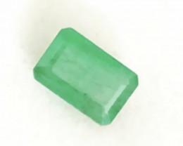 Pretty Bright Green Emerald Cut Emerald - Colombia G310