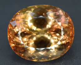 S#31-82 , Top Quality 37.65 Carats Oval Cut Champagne Color Topaz