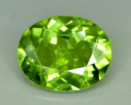 S#31-73 , 6.65 cts Top Grade Oval Cut Natural Olivine Green Natural Peridot