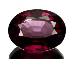 3.20 Cts Natural Purple Pink Garnet Oval Cut Mozambique